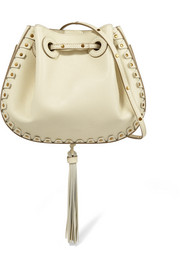 Chloé Inez small studded textured-leather shoulder bag