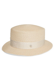 Maison Michel Auguste woven hemp boater hat