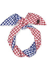 Calie gingham cotton headband