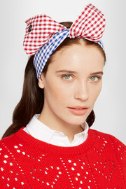 Maison Michel Calie gingham cotton headband