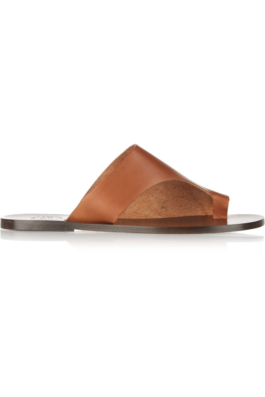 ATP Atelier Rosa cutout leather slides