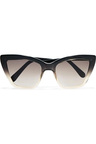 Prism Woman Cat-eye Printed Acetate Sunglasses Black Size Prism PfAGUbxRRA
