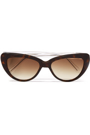 Capri cat-eye acetate sunglasses