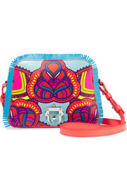Paula Cademartori Didi fringed printed leather shoulder bag