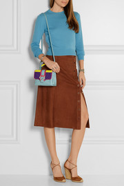 Paula Cademartori Dun Dun mini paneled leather shoulder bag
