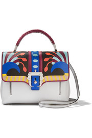 Petite Faye printed leather shoulder bag