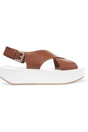 Malabar leather slingback sandals