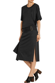 Belted stretch-cotton jersey dress