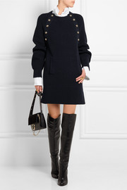 Oversized wool sweater dress