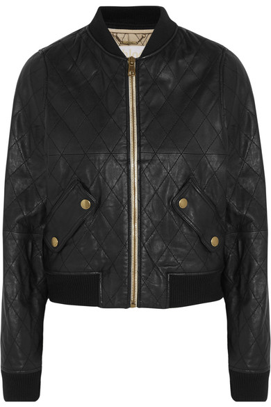 Chloé | Quilted leather bomber jacket | NET-A-PORTER.COM