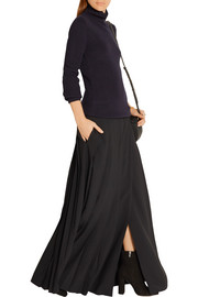 Chloé Pleated cady wrap maxi skirt