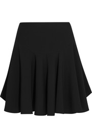 Fluted cady mini skirt
