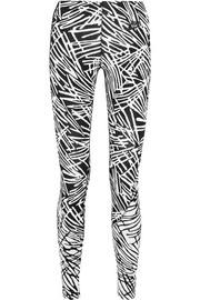 Leg-A-See printed stretch cotton-blend jersey leggings