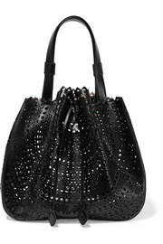 Alaïa Laser-cut leather bucket bag