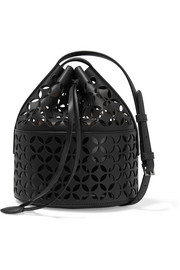 Alaïa Petal laser-cut leather bucket bag