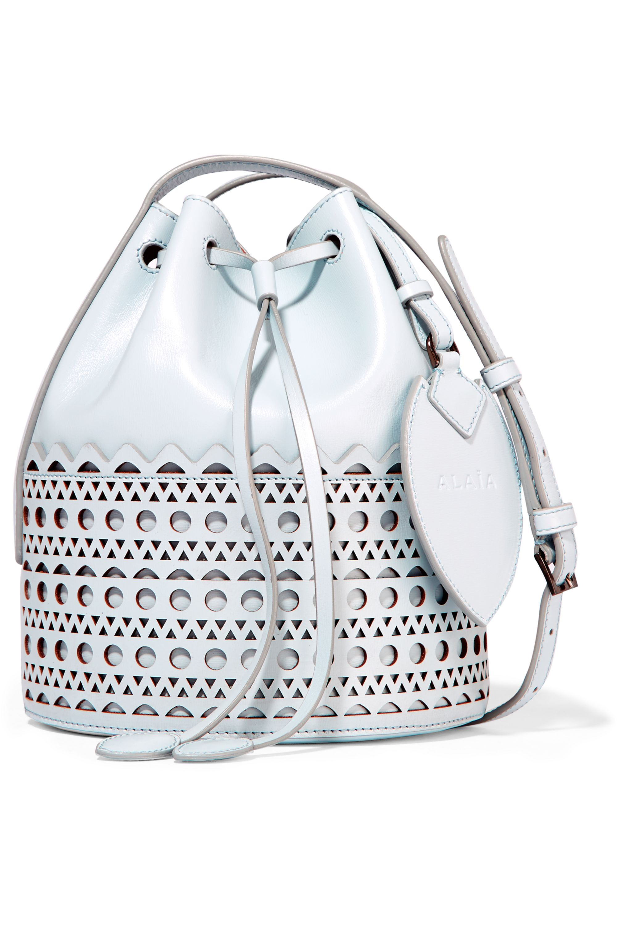 Alaïa Vienne laser-cut leather bucket bag