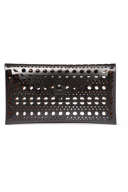 Alaïa Vienne small laser-cut leather clutch