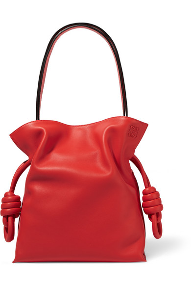 Flamenco Knot Small Leather Shoulder Bag by Loewe