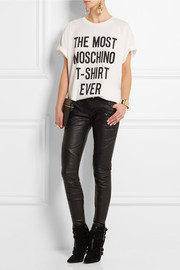 Moschino Oversized printed cotton T-shirt