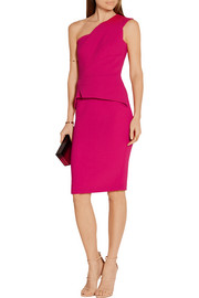 Roland Mouret Lyford one-shoulder wool-crepe dress