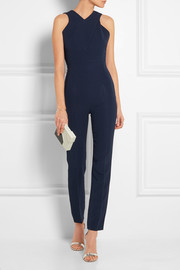 Saxby cutout stretch-crepe jumpsuit
