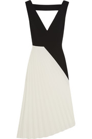Roland Mouret Montfort pleated stretch-crepe midi dress