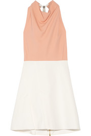 Paget TTD crepe and stretch-canvas mini dress