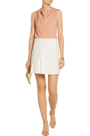 Roland Mouret Paget TTD crepe and stretch-canvas mini dress
