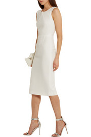Folded textured-crepe dress