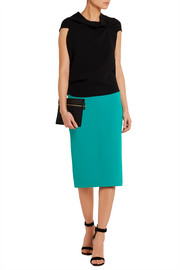 Arreton wool-crepe pencil skirt