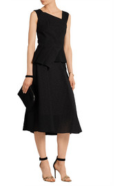 Roland Mouret Offley cloqué and stretch-crepe skirt