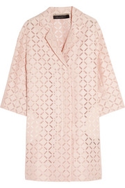 Paddington broderie anglaise cotton-blend coat