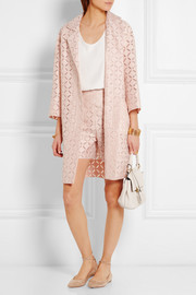 Roland Mouret Paddington broderie anglaise cotton-blend coat