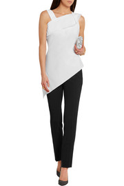 Roland Mouret Iver asymmetric stretch cotton-blend top