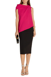 Roland Mouret Eugene open-back wool-crepe top