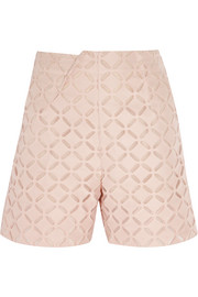 Kelston broderie anglaise cotton and silk-blend shorts