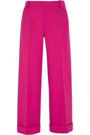Rew cropped wool-crepe wide-leg pants