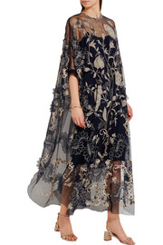 Assad embellished embroidered tulle dress