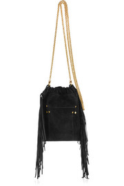 Gary small fringed suede shoulder bag