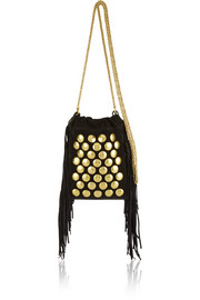 Jérôme Dreyfuss Gary small fringed studded suede shoulder bag