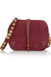 Nestor embellished suede shoulder bag