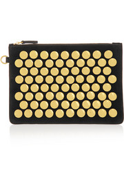 Popoche medium studded suede pouch