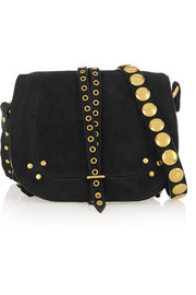 Victor studded suede shoulder bag