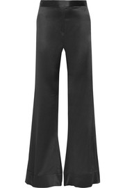 Revolver silk-satin flared pants