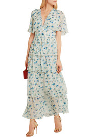 Rena printed silk-chiffon maxi dress