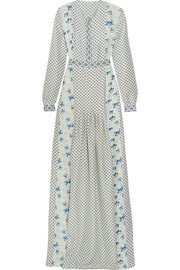 Anais printed silk gown