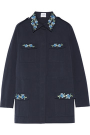 Dawn embroidered cotton-gabardine jacket