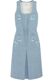 Sid embroidered chambray midi dress