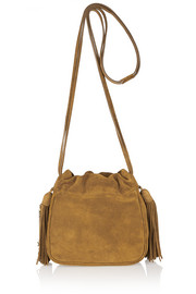 Helena small fringed suede shoulder bag