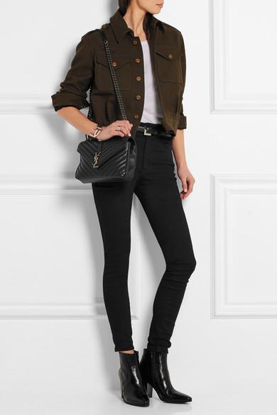 84da280349d9 SAINT LAURENT | Monogramme College medium quilted leather shoulder ...